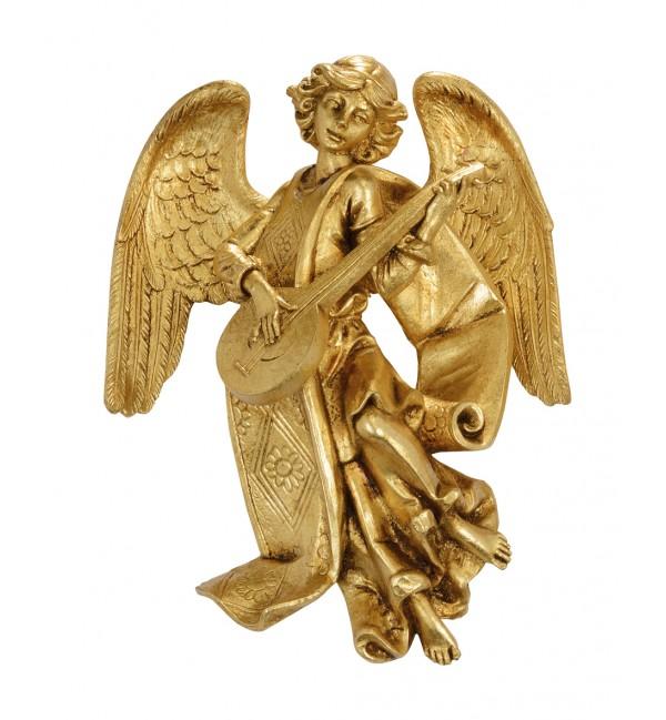 Angelo con mandolino (470) oro foglia cm.17