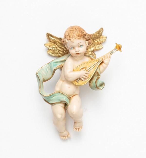 Angelo con mandolino (65) tipo porcellana cm.11