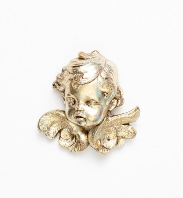 Testa angelo (68) argento foglia cm.11