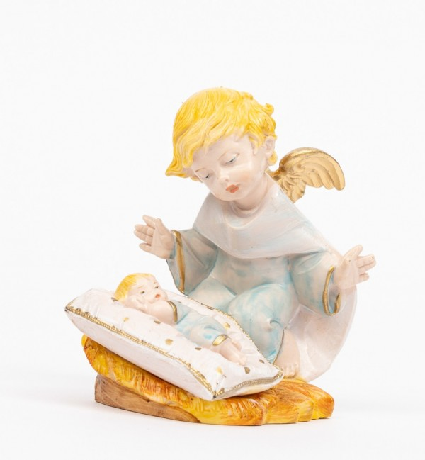 Angelo celeste con guanciale (138GC) tipo porcellana cm.10,5