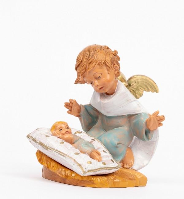 Angelo celeste con guanciale (138GC) cm.10,5