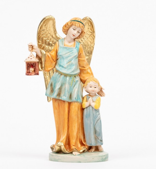 Angelo custode con bimbo (174C) tipo porcellana cm.17