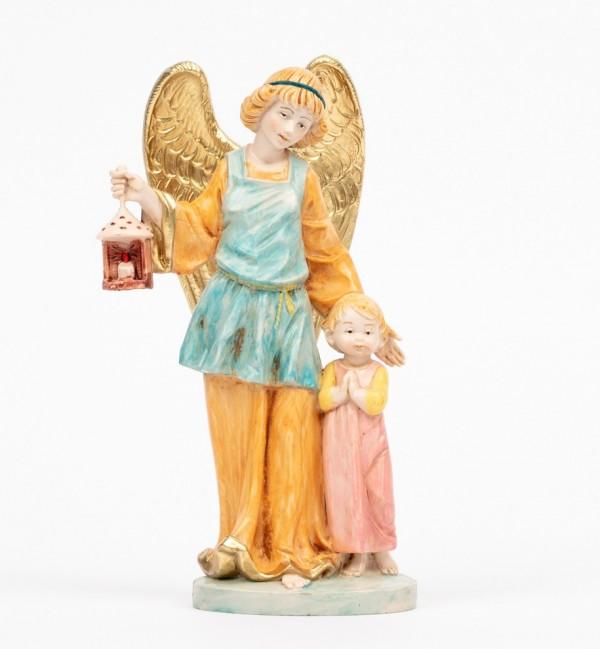 Angelo custode con bimba (174R) tipo porcellana cm.17