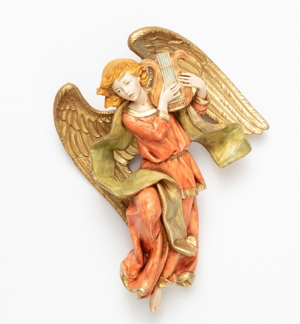 Angelo con lira (468) tipo porcellana cm.17