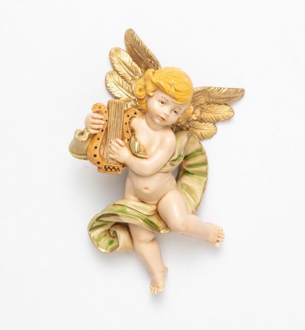 Angelo con lira (568) tipo porcellana cm.17