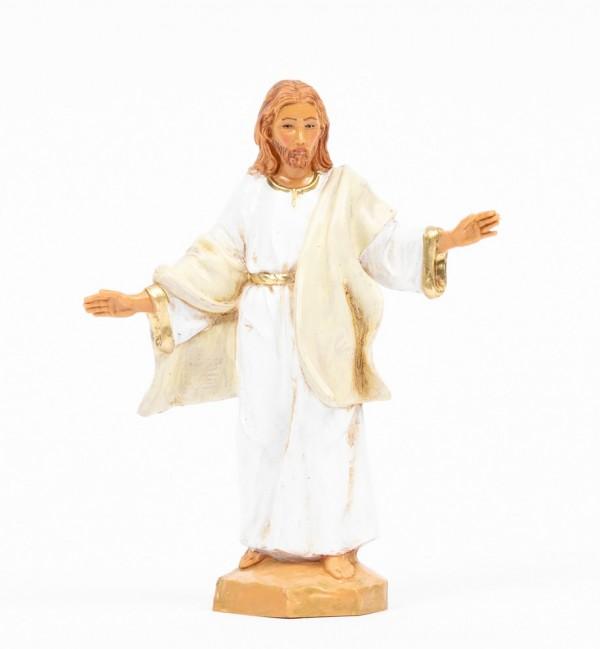 Cristo Risorto (584) veste bianca cm.12
