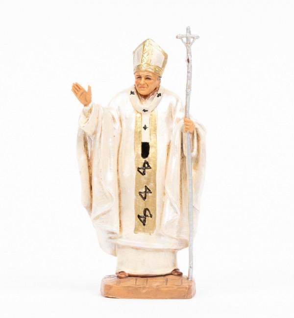 Papa Giovanni Paolo II (648) veste bianca cm.13