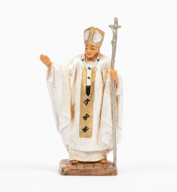 Papa Giovanni Paolo II (1216) veste bianca cm.7
