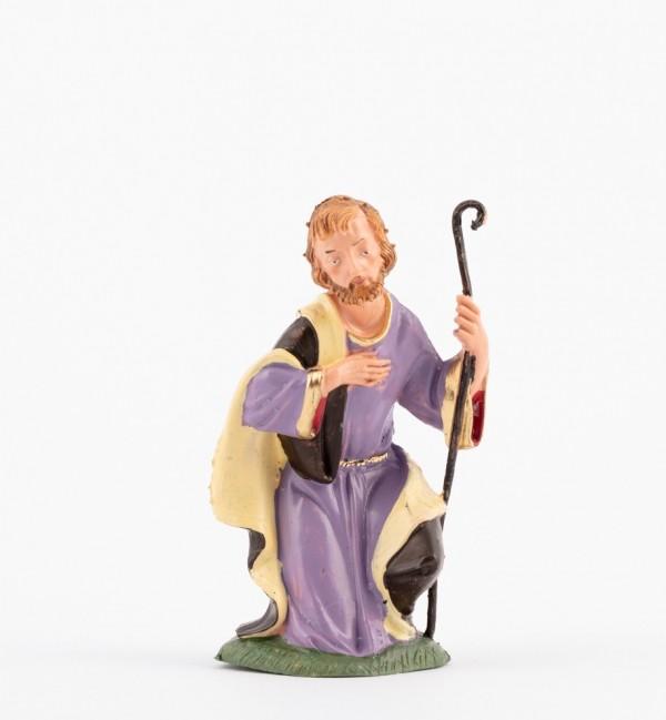 San Giuseppe per presepe colori tradizionali cm.10