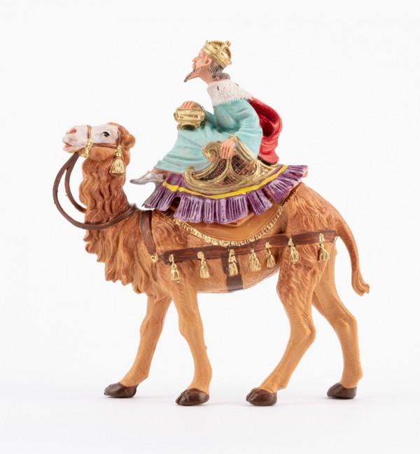 Re bianco a cammello (8) per presepe colori tradizionali cm.10