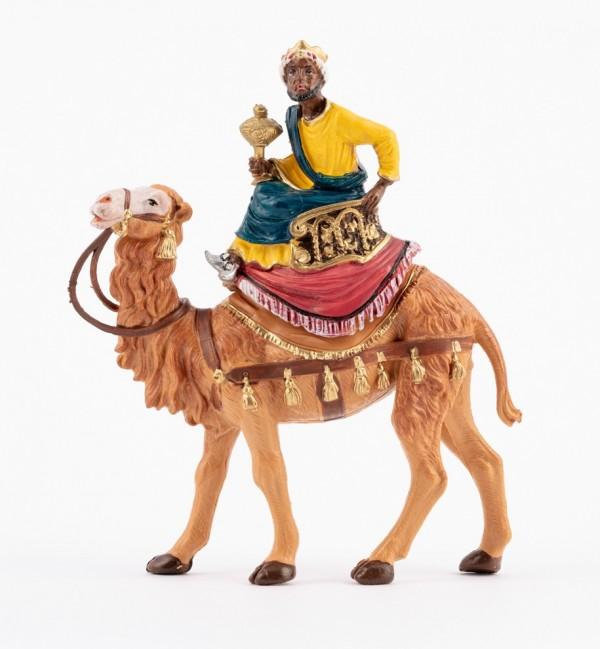 Re mulatto a cammello (9) per presepe colori tradizionali cm.10