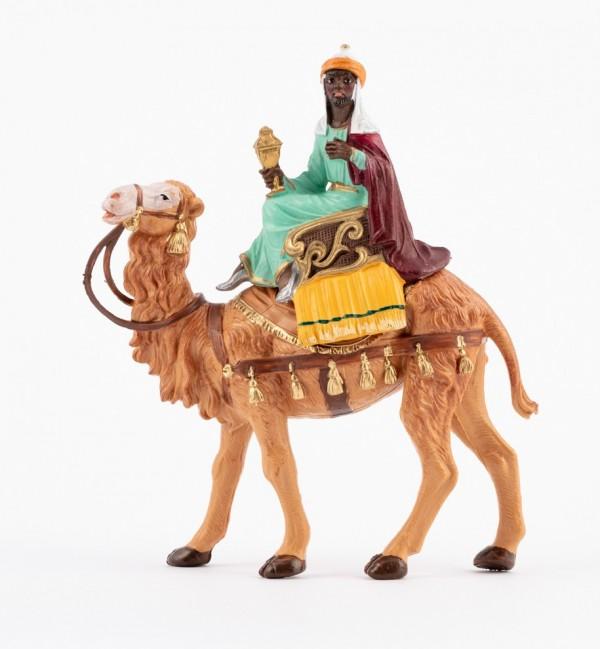 Re moro a cammello (10) per presepe colori tradizionali cm.10