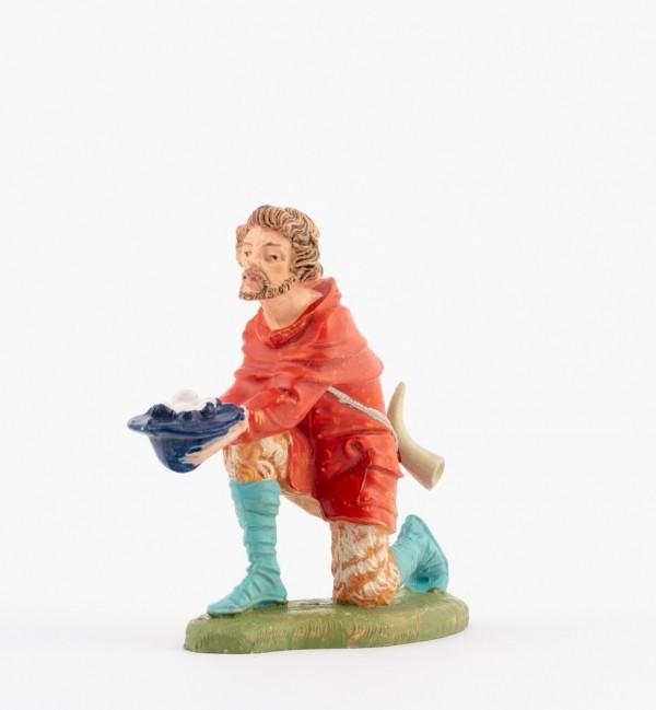 Pastore (136) per presepe colori tradizionali cm.10