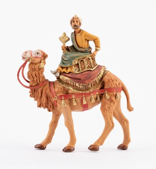 Re mulatto a cammello (2) per presepe cm.10