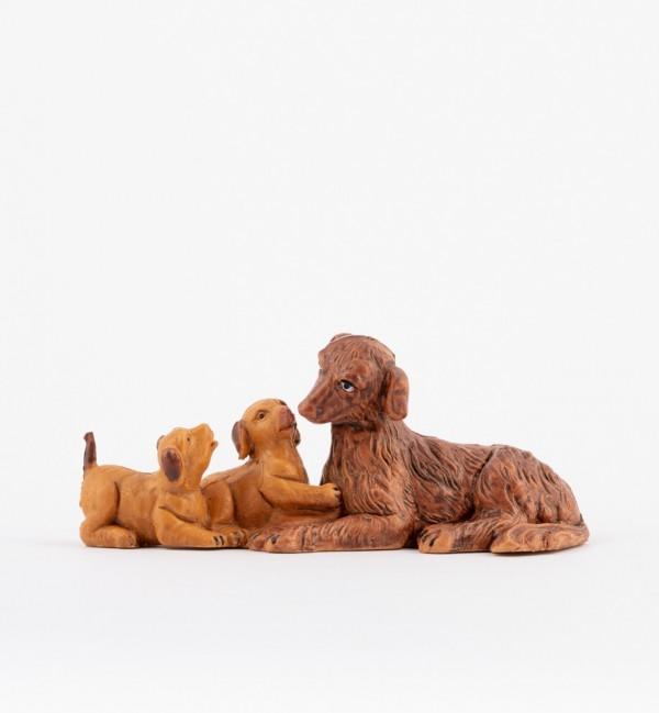 Famiglia cani per presepe cm.12