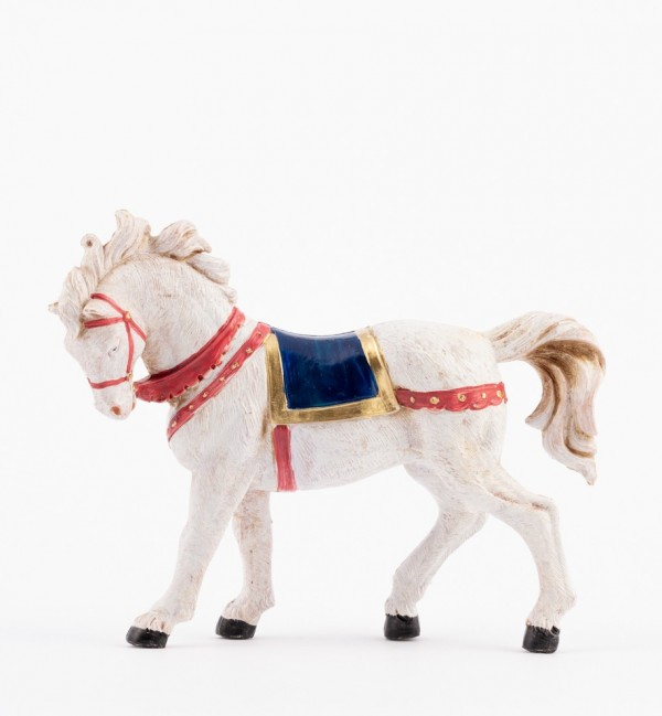 Cavallo bianco per presepe cm.12