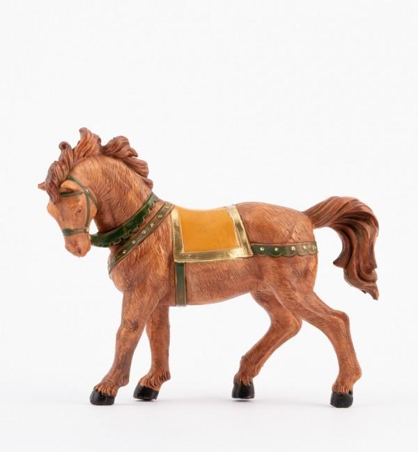 Cavallo marrone per presepe cm.12