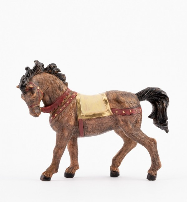 Cavallo nero per presepe cm.12