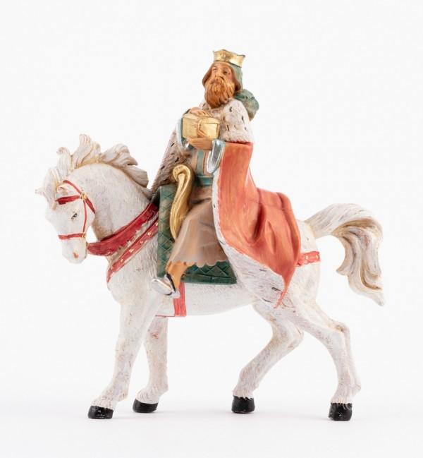 Re a cavallo per presepe cm.12
