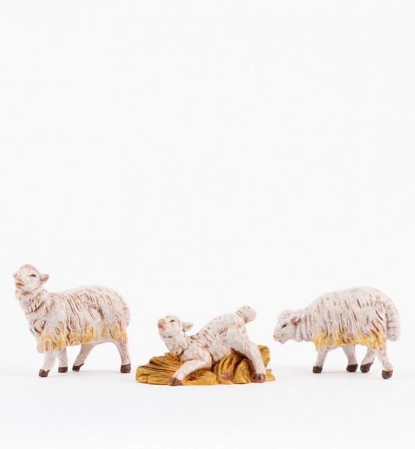 3 pecore per presepe cm.15