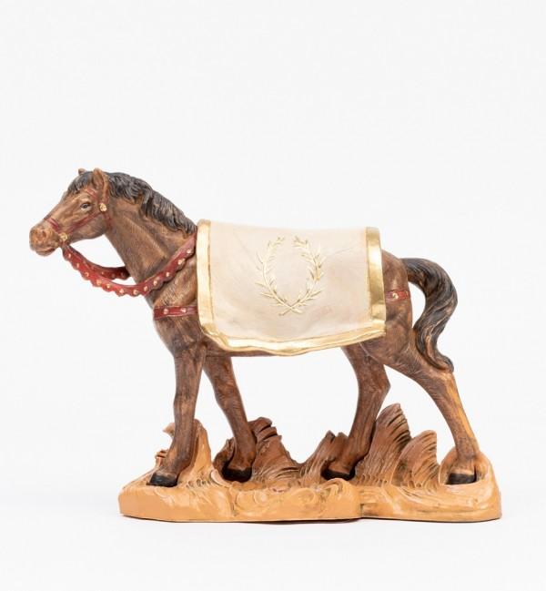 Cavallo nero per presepe cm.19