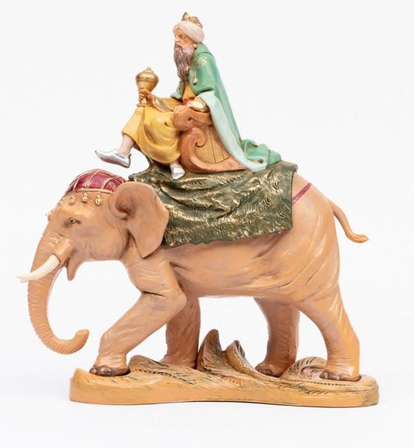 Re su elefante per presepe cm.19