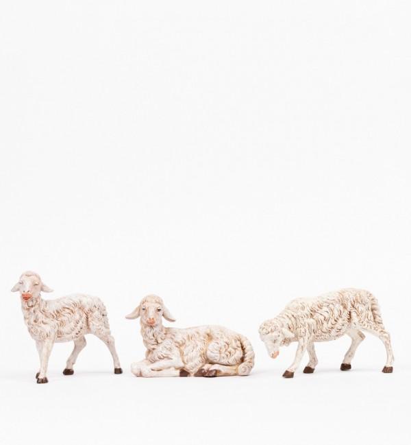 3 pecore per presepe cm.30