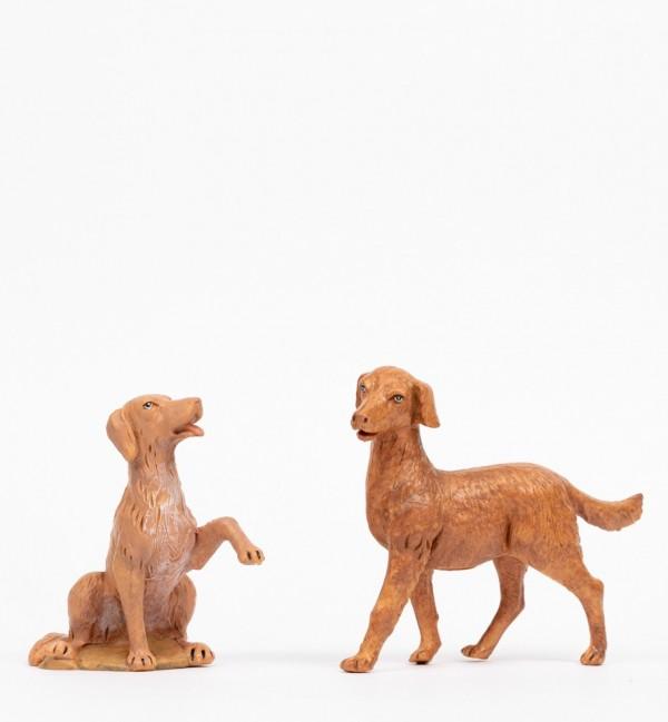 2 cani per presepe cm.30