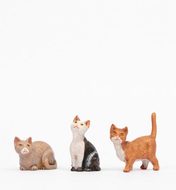 3 gatti per presepe cm.30