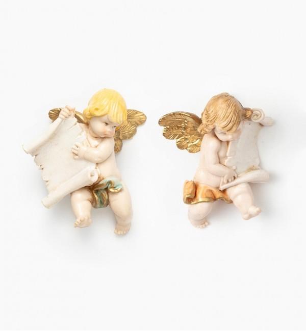 Angeli con pergamena (396-7) tipo porcellana cm.7
