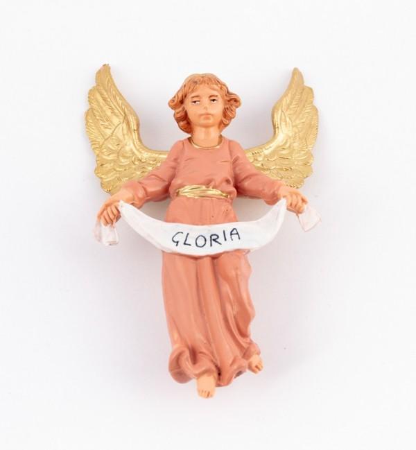 Angelo Gloria rosa per presepe colori tradizionali cm.10