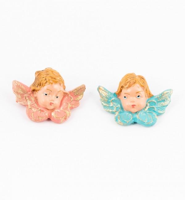 Teste angeli (17D-17S) colori tradizionali cm.4