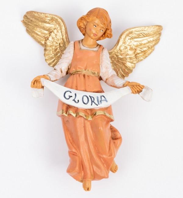 Angelo gloria rosa per presepe cm.12