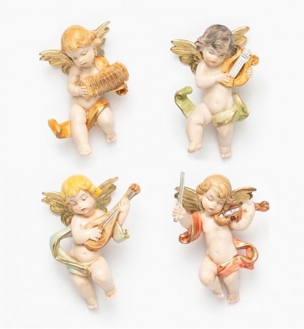 Angeli musicanti (3/6) tipo porcellana cm.6