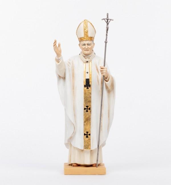 Papa Giovanni Paolo II veste bianca in resina cm.56
