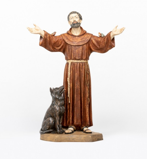 San Francesco in resina cm.100