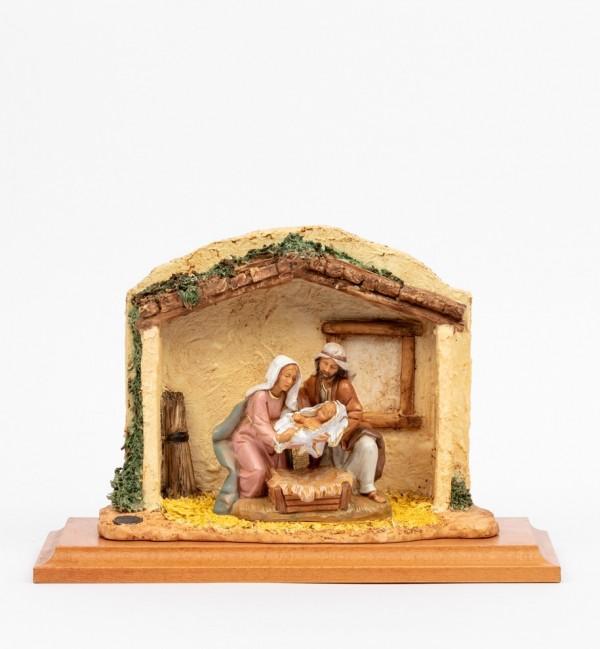 Scena Nascita Gesù con personaggi cm.12