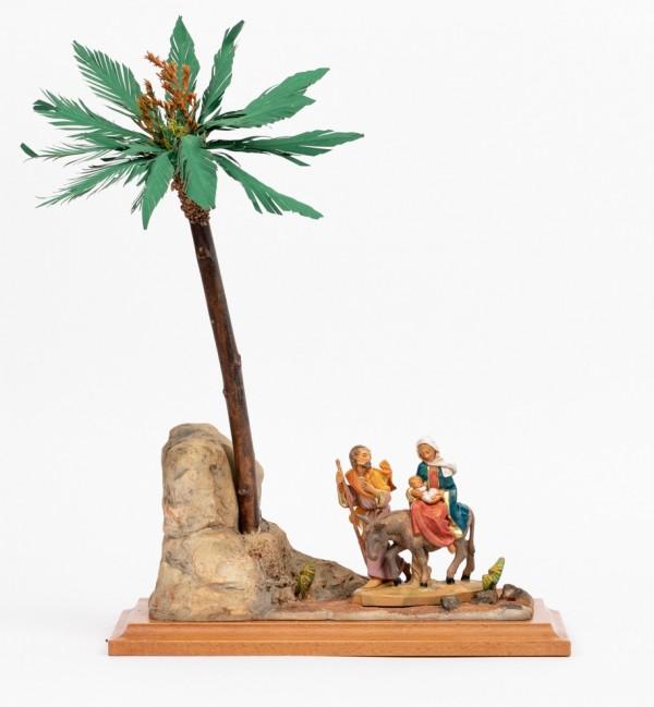 Scena Fuga in Egitto con personaggi cm.12
