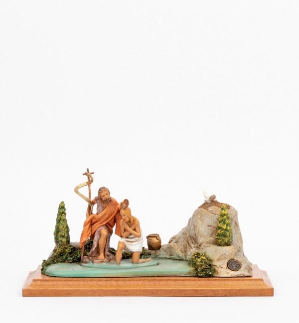 Scena Battesimo di Gesù con personaggi cm.12