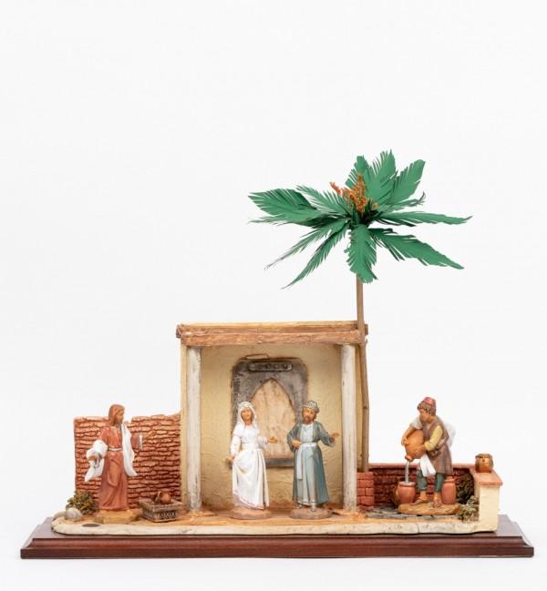 Scena Nozze di Cana con personaggi cm.12