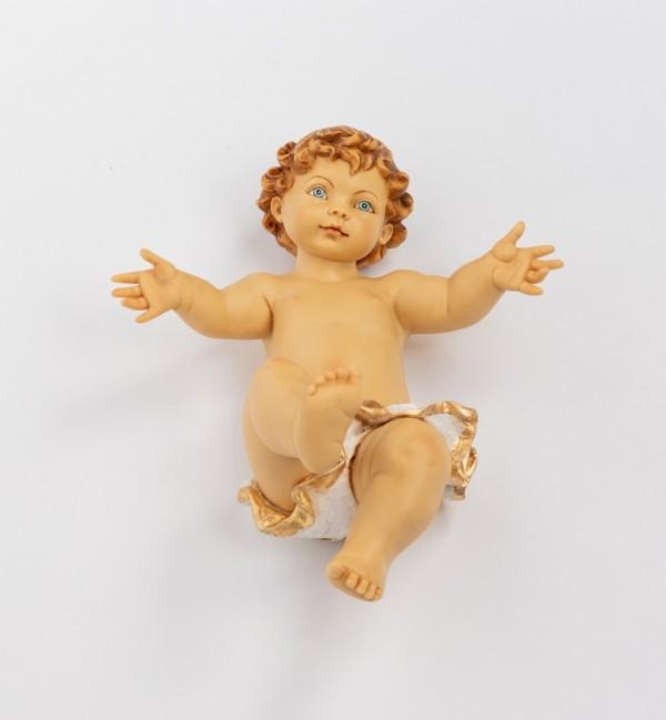 Bambino senza veste in resina per presepe cm.125