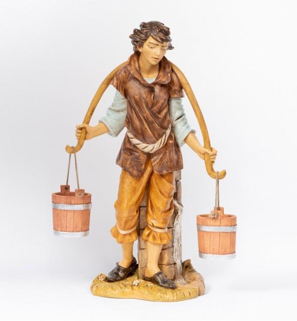 Pastore (14) in resina per presepe cm.125